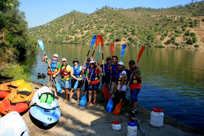 Tajo internacional Extremadura piraguas Paraguay fam trip