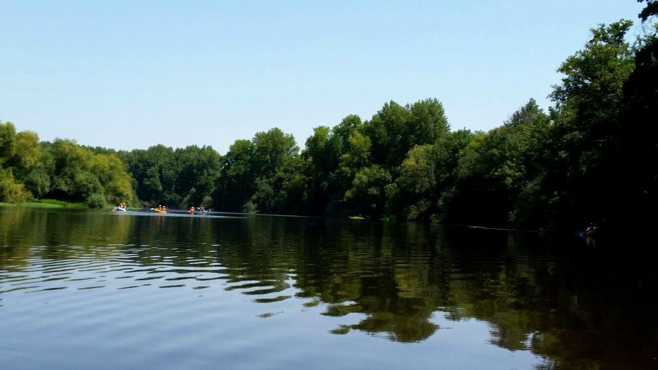 descenso del alagon en piragua kayak coria