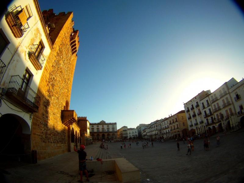 escalada Torre de Bujaco Caceres Patrimonio Humanidad Turismo Aventura Origen deporte y naturaleza